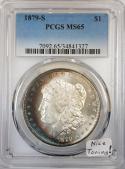 1879-S Morgan Dollar PCGS MS-65; Nice Toning!