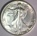 1944-S Walking Liberty Half Dollar; Choice BU