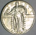 1929 Standing Liberty Quarter; Choice AU