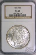 1886 Morgan Dollar NGC MS-65; Creamy White!