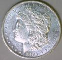 1881-O Morgan Dollar; Choice AU-BU; Flashy