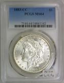 1883-CC Morgan Dollar PCGS MS-64; Nice White