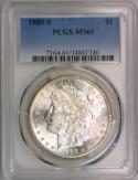 1885-S Morgan Dollar PCGS MS-61