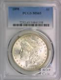 1898 Morgan Dollar PCGS MS-65; Nice Coin!