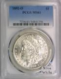 1892-O Morgan Dollar PCGS MS-61; Nice White!