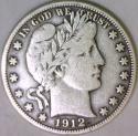 1912-D Barber Half Dollar; F