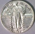 1928-S Standing Liberty Quarter; Choice AU