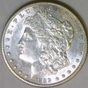 1889-S Morgan Dollar; Choice AU-BU