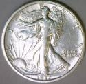 1917 Walking Liberty Half Dollar; Nice AU