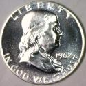1962 Franklin Half Dollar; Superb Gem Proof