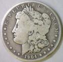 1904-S Morgan Dollar; VG; Better Date!