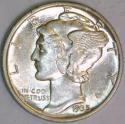 1935 Mercury Dime; Choice BU; F.B.