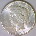 1923-S Peace Dollar; Unc.