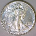 1939-D Walking Liberty Half Dollar; Choice AU