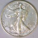 1940-S Walking Liberty Half Dollar; XF-AU