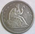 1865-S Seated Liberty Half Dollar; Nice VF-XF; Popular Civil War Date!