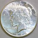 1928-S Peace Dollar; Choice AU-BU