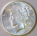 1924-S Peace Dollar; Choice AU