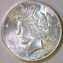 1926-S Peace Dollar; Choice BU