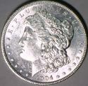 1904 Morgan Dollar; Nice White Choice BU; Better Date!