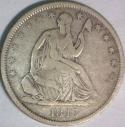 1843-O Seated Liberty Half Dollar; Choice Original F; WB-12, R-3; Scarce
