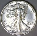 1933-S Walking Liberty Half Dollar; AU