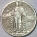 1918 Standing Liberty Quarter; XF