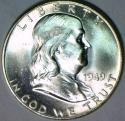 1949 Franklin Half Dollar; F.B.L. Choice BU+