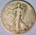1923-S Walking Liberty Half Dollar; Nice F-VF