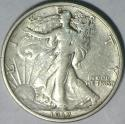 1917-S Reverse Walking Liberty Half Dollar; Nice Original XF+