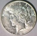1927-S Peace Dollar; Choice AU