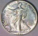 1937 Walking Liberty Half Dollar; Choice AU-BU