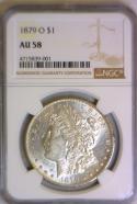 1879-O Morgan Dollar NGC AU-58