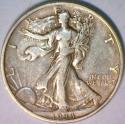 1933-S Walking Liberty Half Dollar; Nice Original XF