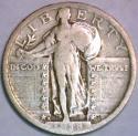 1918-S Standing Liberty Quarter; Nice Original F