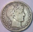 1910-S Barber Half Dollar; F; Better Date!