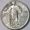 1930 Standing Liberty Quarter; Choice AU