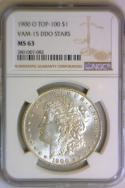1900-O DDO Stars Morgan Dollar NGC MS-63; VAM-15, Top-100