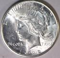 1922-S Peace Dollar; Choice BU