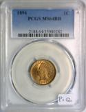 1894 Indian Head Cent PCGS MS-64 RB; Premium Quality!