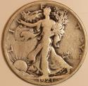 1921-S Walking Liberty Half Dollar; Nice Original VG+