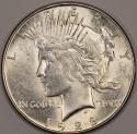 1928-S Peace Dollar; Choice AU-BU; Frosty White!