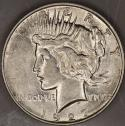 1927-D Peace Dollar; Choice AU-BU