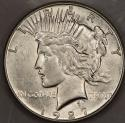 1927-S Peace Dollar; Lustrous Choice AU-BU