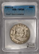 1951-S Franklin Half Dollar with