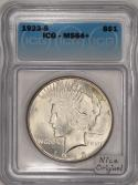 1923-S Peace Dollar ICG MS-64+; Nice Original