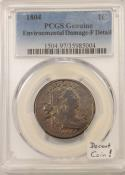 1804 Draped Bust Large Cent; PCGS Certified F Details; Decent Coin!