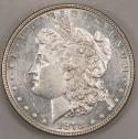1878 7 T.F., Rev. of '78 Morgan Dollar; Prooflike Choice BU