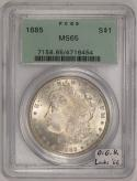 1885 Morgan Dollar PCGS MS-65; Old Green Holder; Looks '66