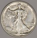 1934-D Walking Liberty Half Dollar; Nice AU+